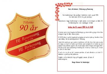 Invitation 90 år - version X